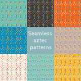 Set of 8 seamless ethnic patterns Stock Image