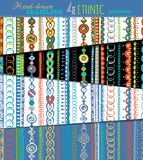Set of seamless ethnic patterns. Stock Image