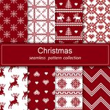 Set of seamless fabric. The occasion. Merry Christmas and happy New year. royalty free illustration