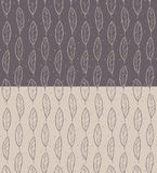 Set of Seamless Feather Pattern Royalty Free Stock Photography