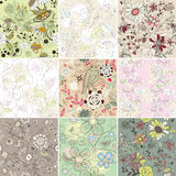 Set of seamless floral background. Abstract vector set of seamless floral background Stock Photo