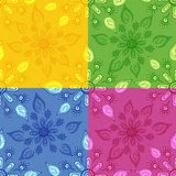 Set seamless floral backgrounds Royalty Free Stock Photos