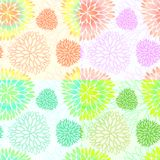 Set of seamless floral blossom patterns. Set of 4 vector seamless abstract spring floral backgrounds in light gentle colors. Beautiful and creative blossom Royalty Free Stock Photo