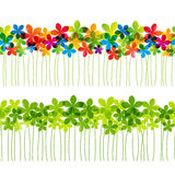 Set of seamless floral borders. For Your design Stock Image