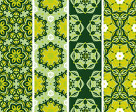 Set seamless  floral desing pattern Royalty Free Stock Photography