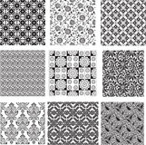 Set of seamless floral pattern Royalty Free Stock Photo