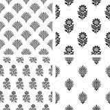 Set of seamless floral pattern Royalty Free Stock Photos