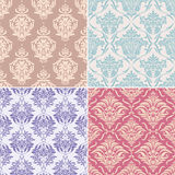 Seamless floral patterns. Set of seamless floral pattern vector illustration Royalty Free Stock Photos