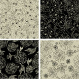 Set of seamless floral patterns Royalty Free Stock Images