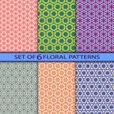 Set of 6  seamless floral patterns. Set of 6  colorful seamless floral patterns Royalty Free Stock Photos