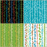 Set of seamless floral patterns. Stock Image