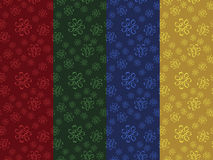 Set of seamless floral patterns Stock Image