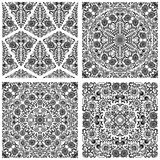 Set of seamless floral patterns Stock Images