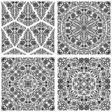 Set of seamless floral patterns. Vector illustration stock illustration