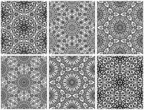 Set of seamless floral patterns with traditional ornament Royalty Free Stock Photography