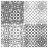 Set of seamless floral patterns with traditional ornament Stock Image