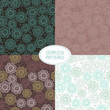 Set of seamless floral patterns. Vector Royalty Free Stock Images