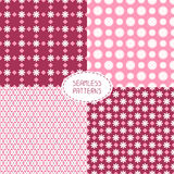 Set of seamless floral patterns. Vector Royalty Free Stock Photo