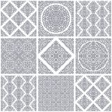 Set of seamless floral patterns Stock Photos