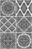 Set of seamless floral patterns. Vector illustration royalty free illustration