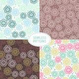 Set of seamless floral patterns. Vector. Illustration stock illustration