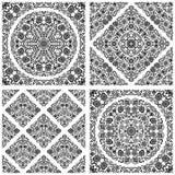 Set of seamless floral patterns Stock Photos