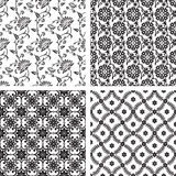 Set of seamless floral wallpaper Royalty Free Stock Image