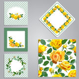 Set of seamless,frame,border with flowers. Stock Images