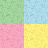 Set of seamless funny pattern Royalty Free Stock Photos