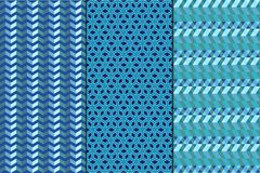 Set. Seamless geometric abstract patterns Royalty Free Stock Image