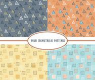 Set of seamless geometric colorful vector patterns Royalty Free Stock Photography
