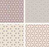 Set of seamless geometric patern. Stock Image