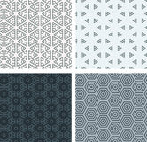 Set of seamless geometric patern. Stock Images