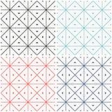Set of seamless geometric patern. Stock Photo