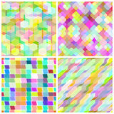 Set seamless geometric pattern. Stock Photos