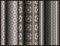 Set of seamless geometric pattern Royalty Free Stock Photos