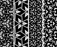 Set seamless geometric pattern Royalty Free Stock Photos