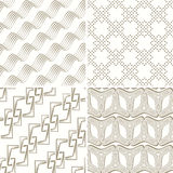 Set of seamless geometric pattern Royalty Free Stock Images