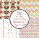 A set of seamless geometric pattern Royalty Free Stock Images