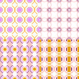 Set of Seamless Geometric Pattern, Backgrounds for design Stock Photo