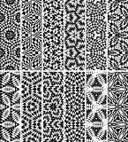 Set seamless geometric pattern Stock Image