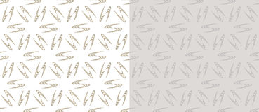 Set of 2 seamless geometric pattern Stock Image