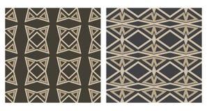 Set of 2 seamless geometric pattern Royalty Free Stock Images
