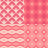 Set of 4 seamless geometric Stock Photography