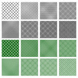 Set of 8 seamless geometric pattern tiles with different density. Royalty free vector illustration Royalty Free Stock Photos