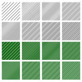 Set of 8 seamless geometric pattern tiles with different density. Royalty free vector illustration Stock Photos