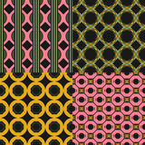 Set of Seamless Geometric Pattern. Vector backgrounds Royalty Free Stock Photos