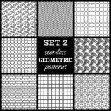 SET 2. Seamless geometric patterns. Stock Images