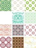 Set seamless geometric patterns - circles, swirls Royalty Free Stock Image