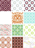 Set seamless geometric patterns - circles, swirls. And floral textures. Vector illustration royalty free illustration